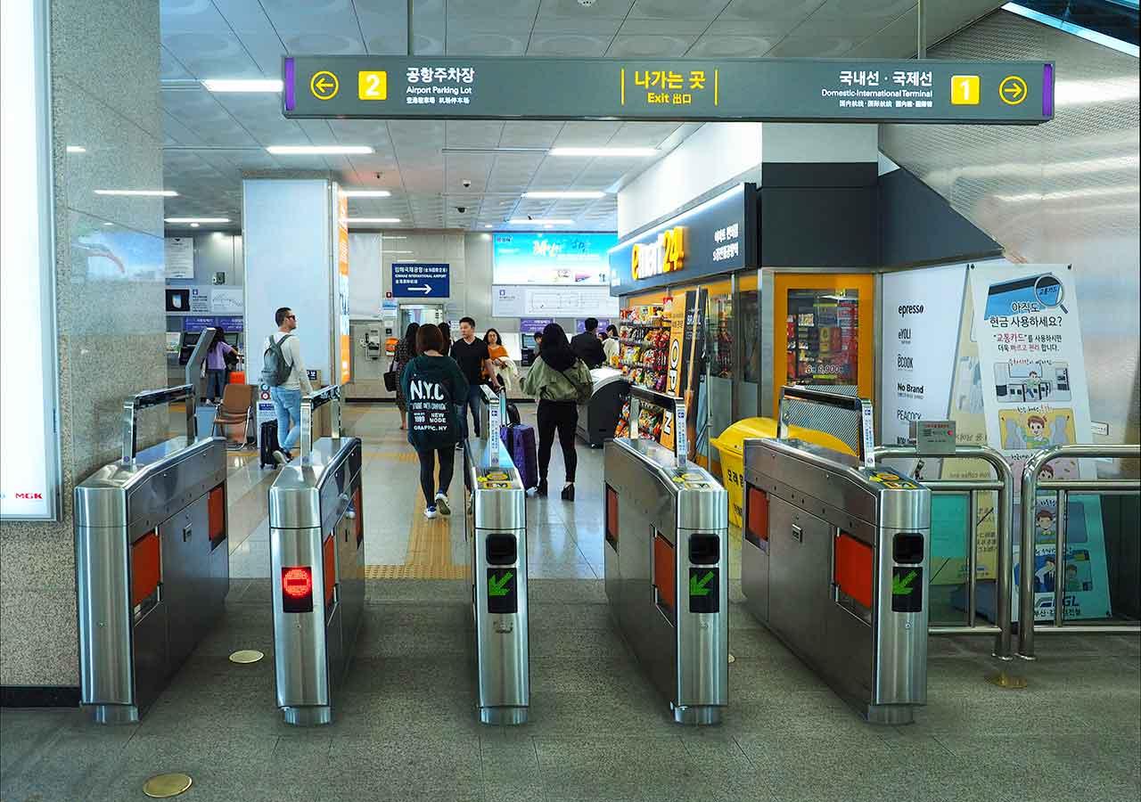 釜山の地下鉄ガイド 釜山の地下鉄 改札