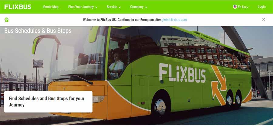 ミュンヘンからウィーンの移動方法 フリックスバス(Flixbus)の画像