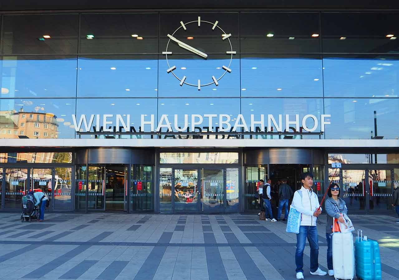 ミュンヘンからウィーンの移動方法 ウィーン中央駅の画像