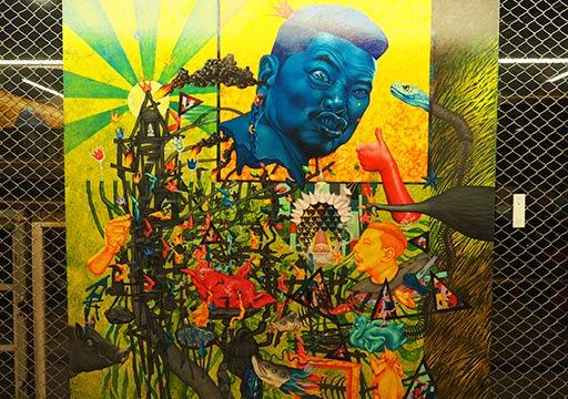 バンコク観光 チャンチューイ・クリエイティブパーク(Chang Chui Creative Park) アートギャラリーの絵画
