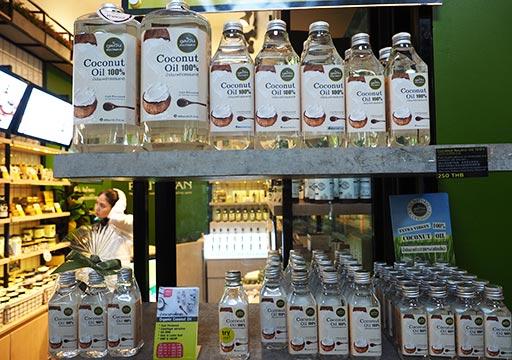 バンコク観光 チャトゥチャックウィークエンドマーケット(Chatuchak Weekend Market) ココナッツオイル