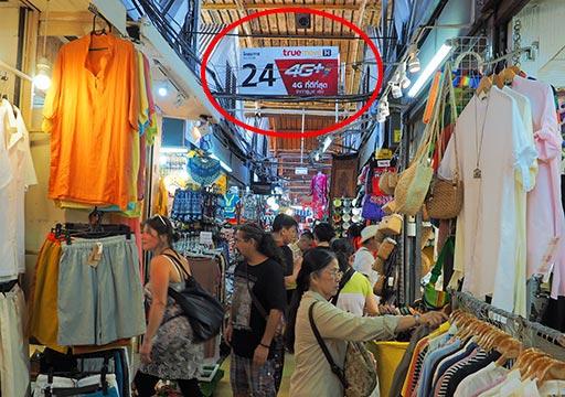 バンコク観光 チャトゥチャックウィークエンドマーケット(Chatuchak Weekend Market) セクション番号