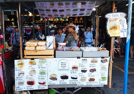バンコク観光 チャトゥチャックウィークエンドマーケット(Chatuchak Weekend Market) デザートの屋台
