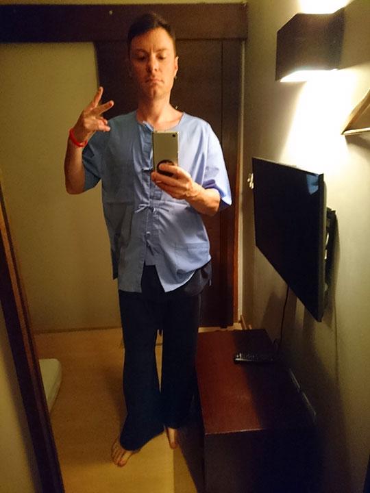 バンコク観光 スパ ヘルスランド・アソーク店 施術用の服