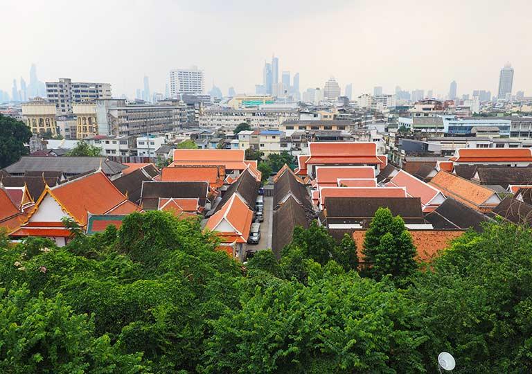 バンコク観光の穴場スポット ワットサケット(Wat Saket) 展望