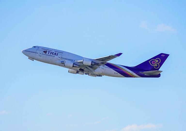 タイ国際航空の飛行機の画像
