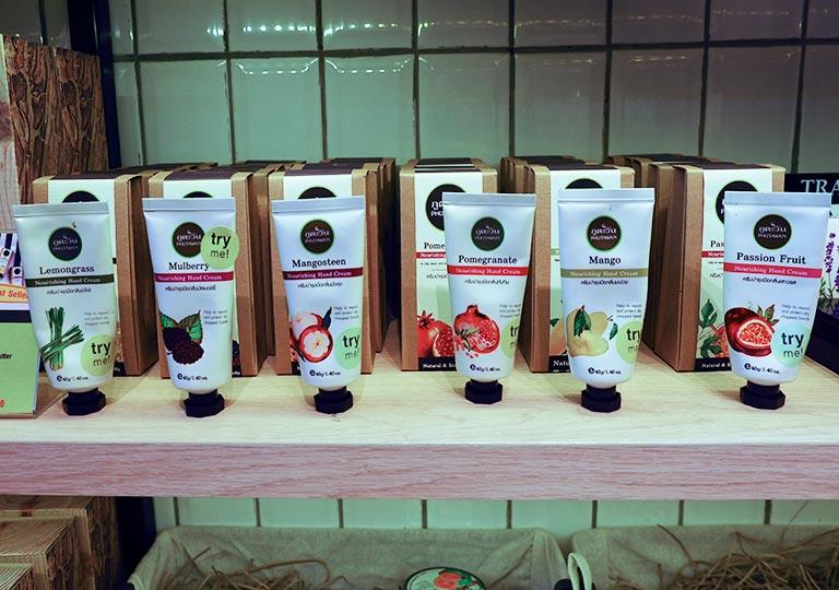 タイ・バンコクのおすすめお土産 コスメ・美容グッズ フルーツ素材のハンドクリーム
