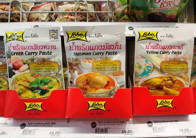 タイ・バンコクのおすすめお土産 食料品・飲料品 タイ料理キット(タイカレー)