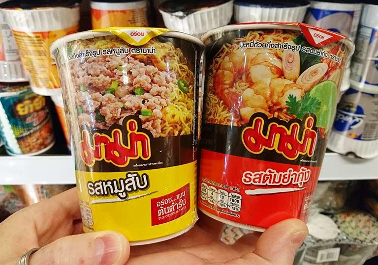 タイ・バンコクのおすすめお土産 食料品・飲料品 カップラーメン