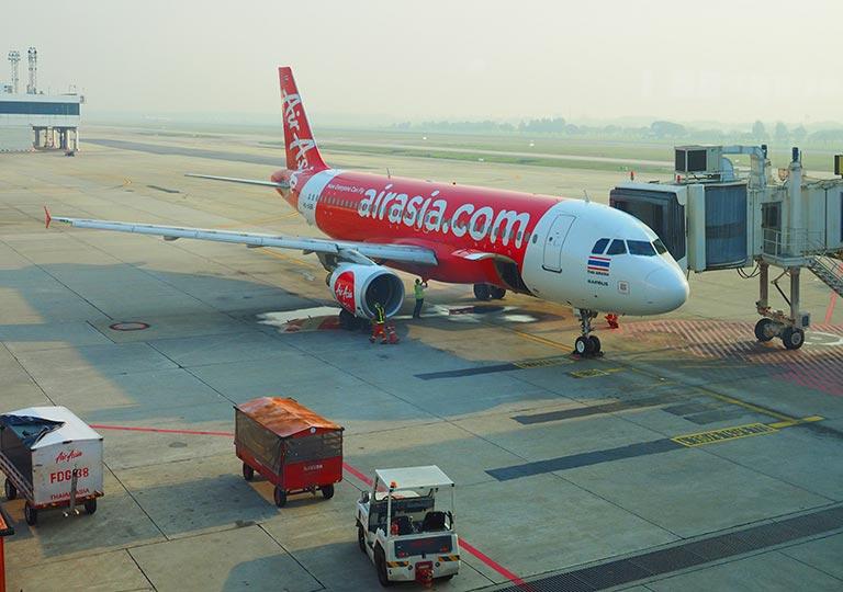 エアアジアの飛行機の画像