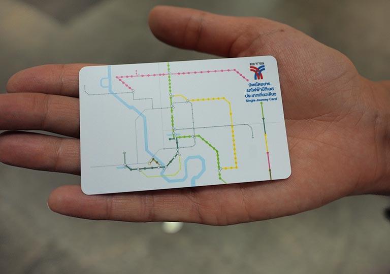 バンコク観光 BTSスカイトレインのチケット 1回乗車券