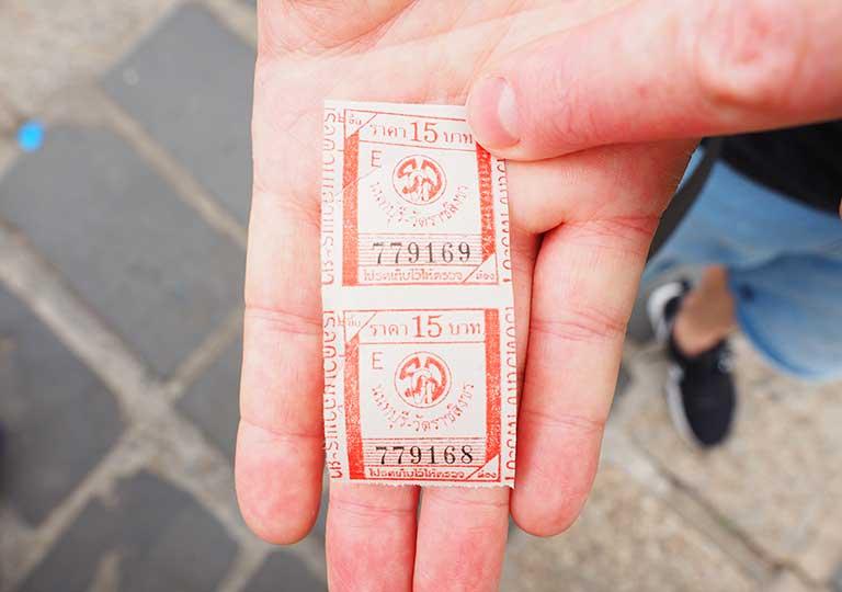 バンコク観光 チャオプラヤーエクスプレスボートのチケット
