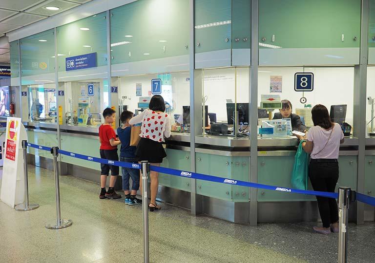 バンコク観光 MRT(地下鉄) チケットオフィス