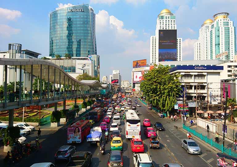 バンコク観光 バンコクの道路