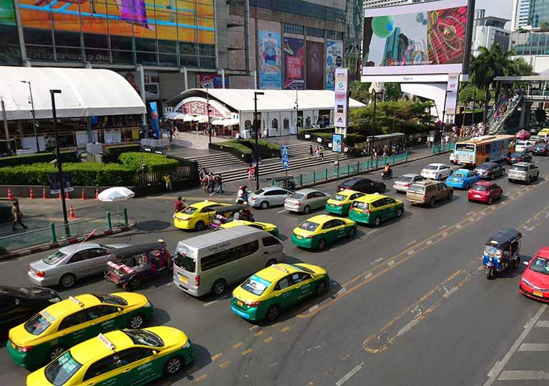 バンコク観光 タクシーの画像