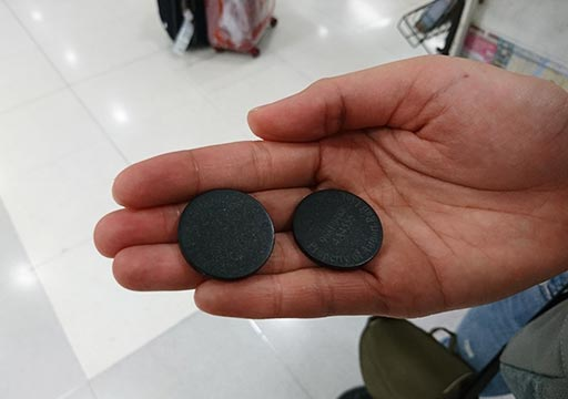 バンコク観光 スワンナプーム空港 ARLの券売機の使い方⑤