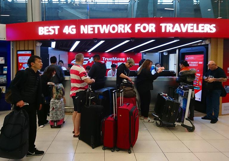 バンコク観光 スワンナプーム空港 SIM・レンタルWiFiのお店