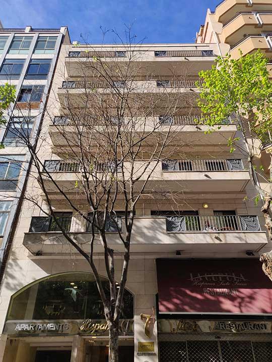 バルセロナ観光 サグラダファミリア近くのホテル アパートホテル ヒスパノス 7 スイザ(Aparthotel Hispanos 7 Suiza)