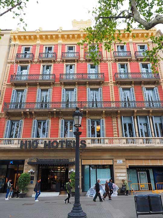 バルセロナ観光 カタルーニャ広場付近のホテル ブティック ホテル H10 カタルーニャ プラザ(Boutique Hotel H10 Catalunya Plaza)