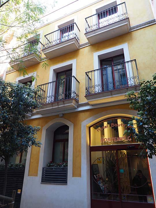 バルセロナ観光 サグラダファミリア近くのホテル ブティック オステンプロ サグラダ ファミリア(Hotel Boutique Hostemplo)