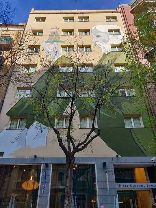 バルセロナ観光 サグラダファミリア周辺のホテル ホテル サグラダ ファミリア(Hotel Sagrada Familia)