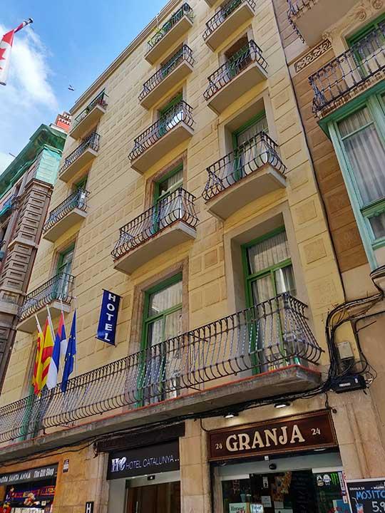 バルセロナ観光 カタルーニャ広場付近のホテル ホテル カタルーニャ(Hotel Catalunya)