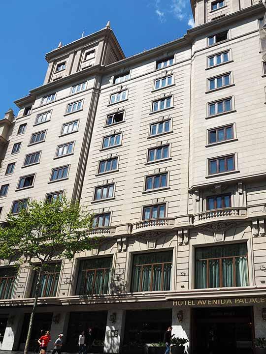 バルセロナ観光 グラシア通り周辺のホテル エル アベニーダ パレス ホテル(El Avenida Palace Hotel)