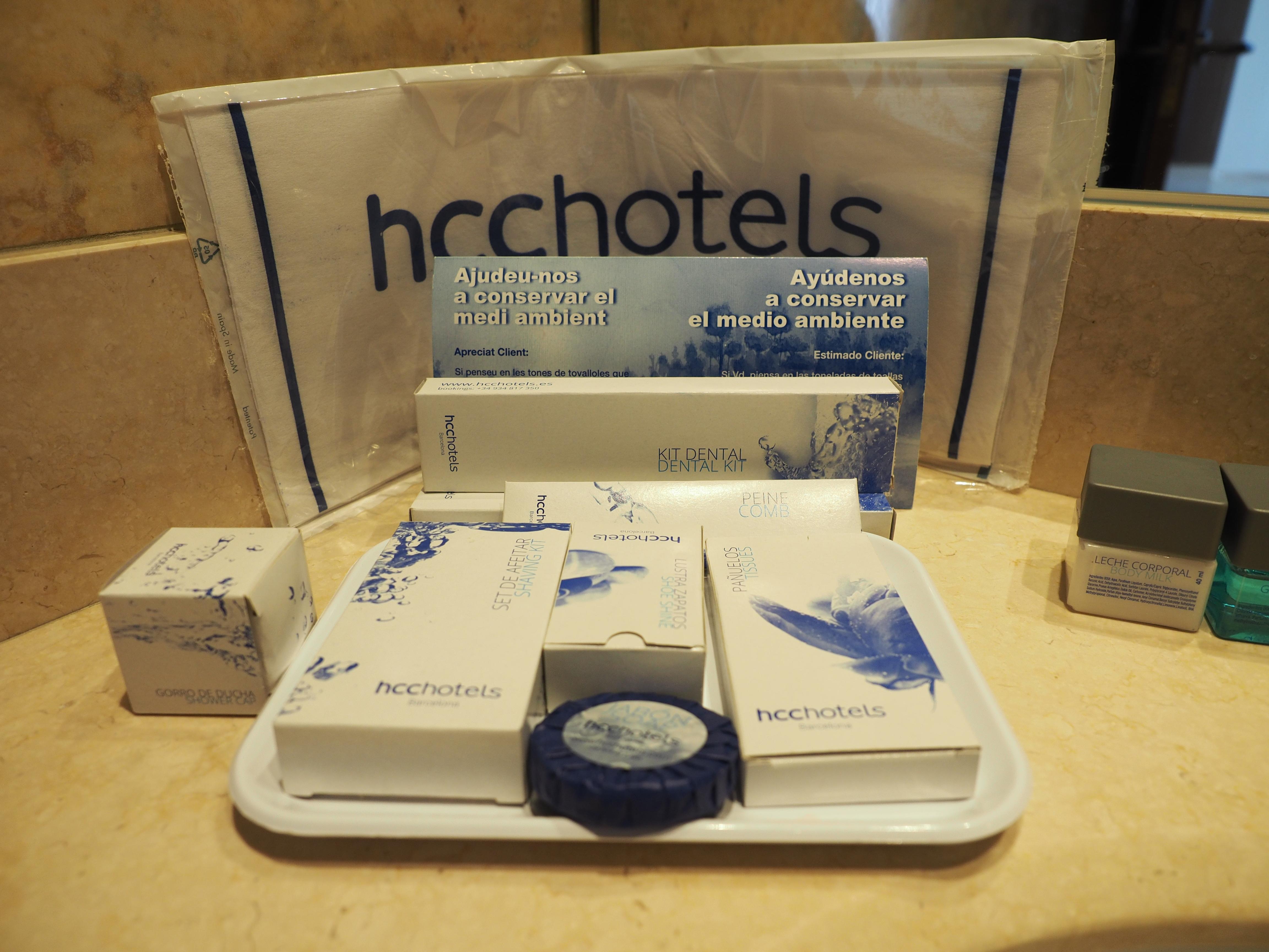 バルセロナ観光 ホテルHCCモンブラン バスアメニティ