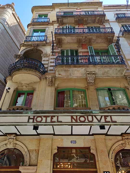 バルセロナ観光 カタルーニャ広場・ランブラス通り周辺のホテル ヌーベル ホテル(Nouvel Hotel)