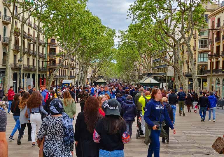 バルセロナ観光 ランブラス通り(La Rambla)