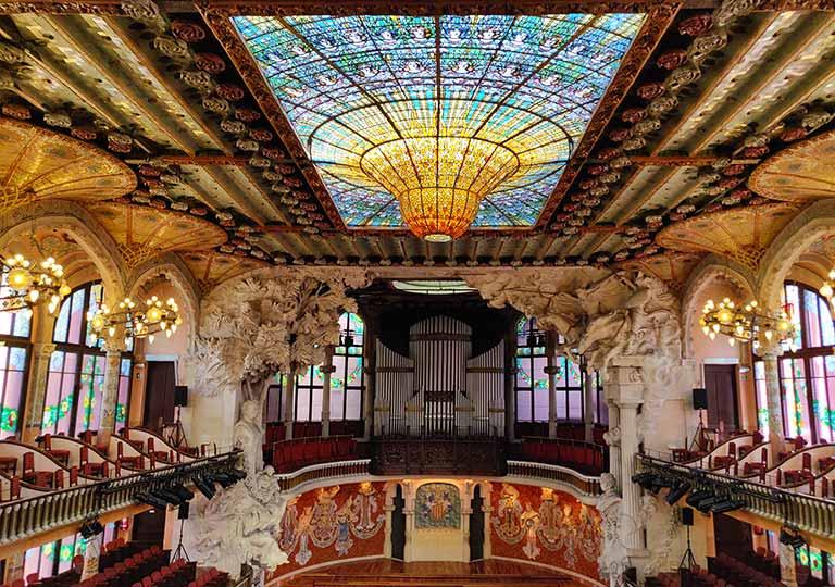 バルセロナ観光 世界遺産のカタルーニャ音楽堂(Palau de la Música Catalana)