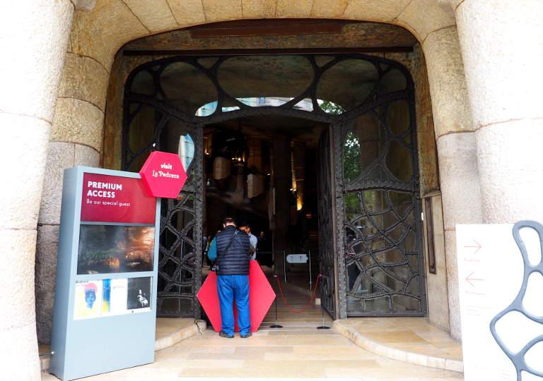 バルセロナ観光 カサミラ(Casa Milà) プレミアムチケットの入場口