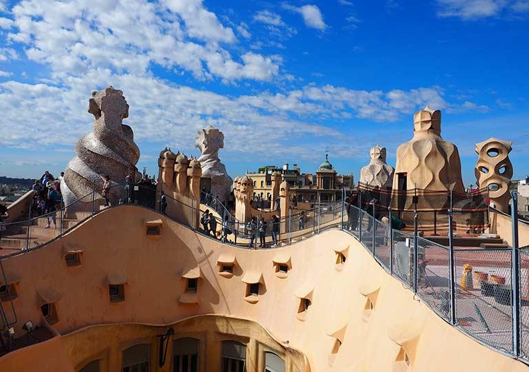 バルセロナ観光 カサミラ(Casa Milà)の屋上