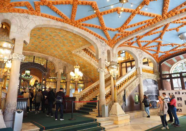 バルセロナ観光 カタルーニャ音楽堂(Palau de la Música Catalana) ロビー