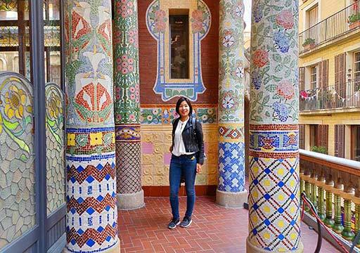バルセロナ観光 カタルーニャ音楽堂(Palau de la Música Catalana)ガイドツアー ルイスミレーホール バルコニー