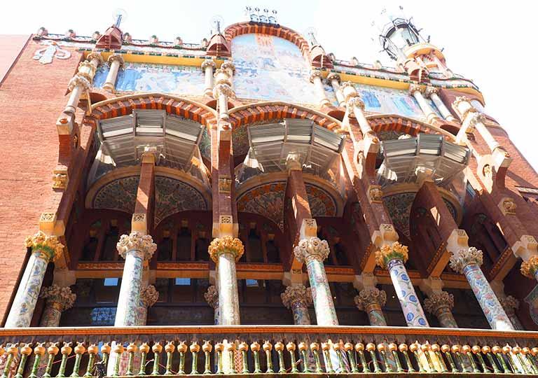 バルセロナ観光 カタルーニャ音楽堂(Palau de la Música Catalana) 外観