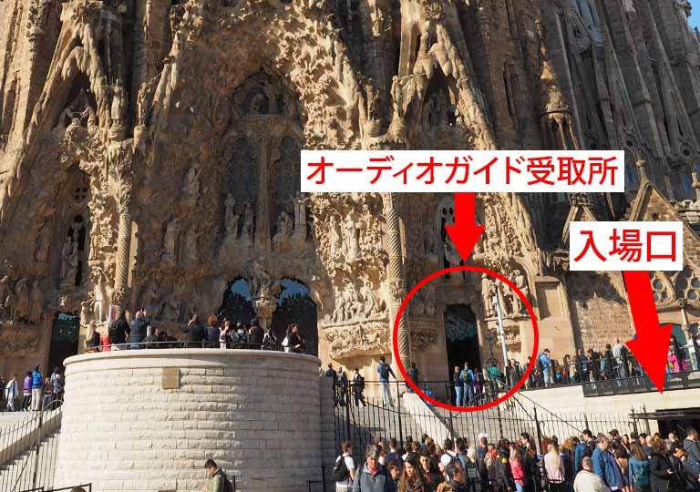バルセロナ観光 サグラダファミリア(Sagrada Familia)入場口