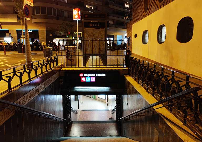 バルセロナ観光 地下鉄サグラダファミリア駅