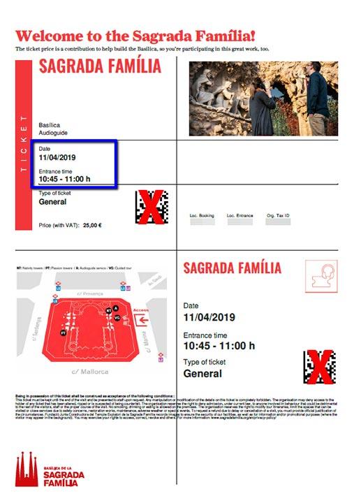 バルセロナ観光 サグラダファミリア チケット予約方法 チケット