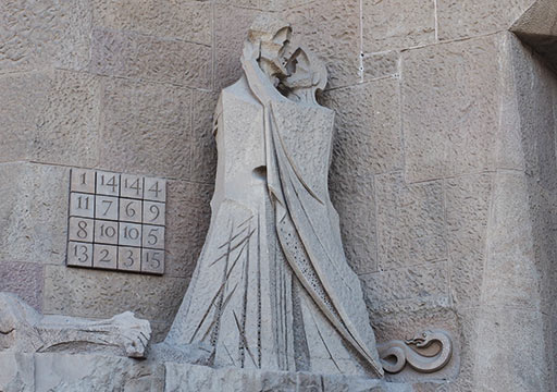 バルセロナ観光 サグラダファミリア(Sagrada Familia) 受難のファサード ユダの接吻