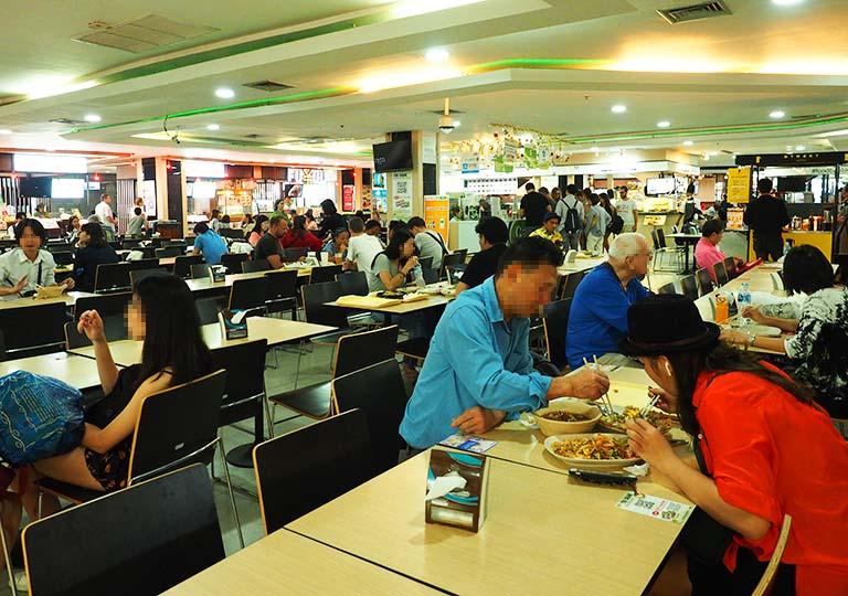 バンコク観光 MBKセンター フードコートMBK FOOD ISLAND
