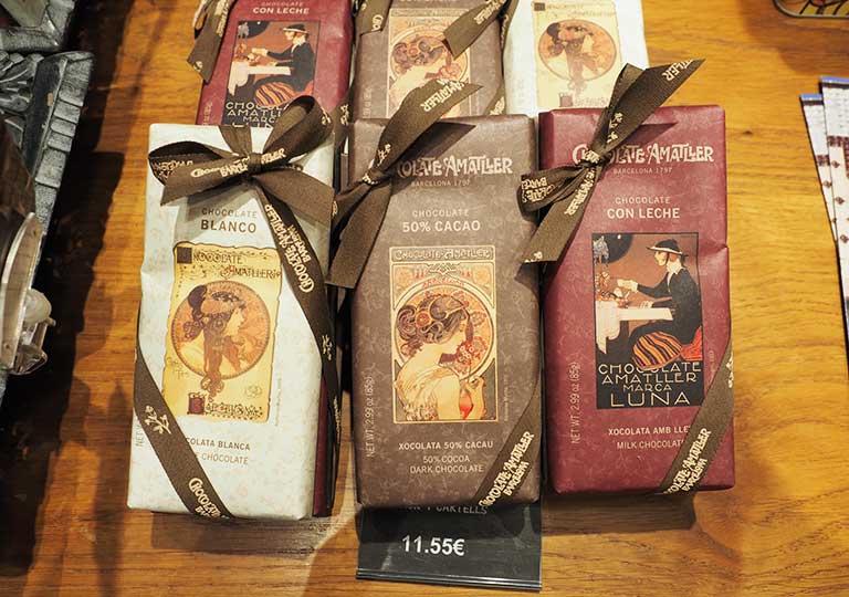 バルセロナ観光 おすすめのお土産 カサ アマトリェール( Casa Amatller)のチョコレート
