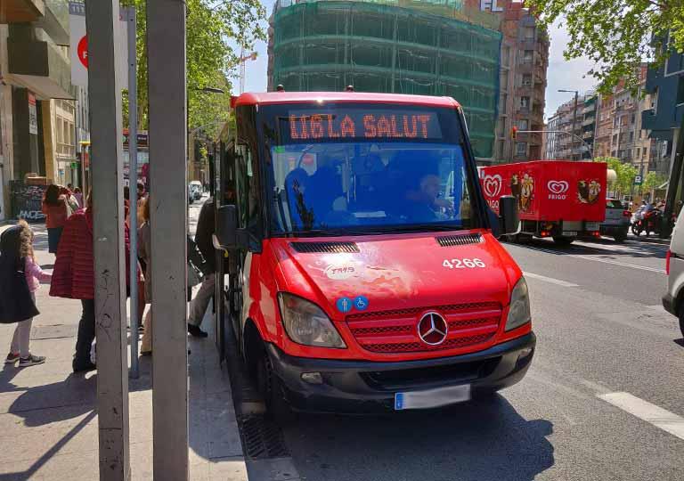 バルセロナ観光 グエル公園(Park Güell) 行き方 地下鉄レセップス駅から116番のバス