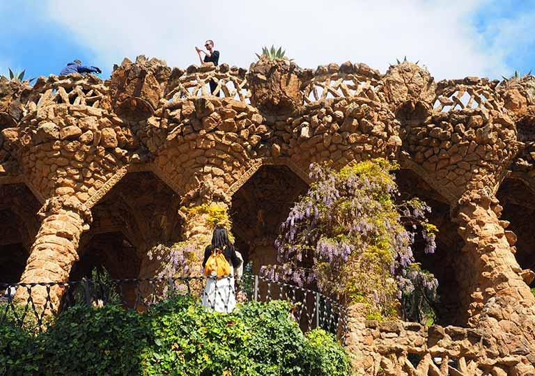 バルセロナ観光 グエル公園(Park Güell) 見どころ⑪高架橋