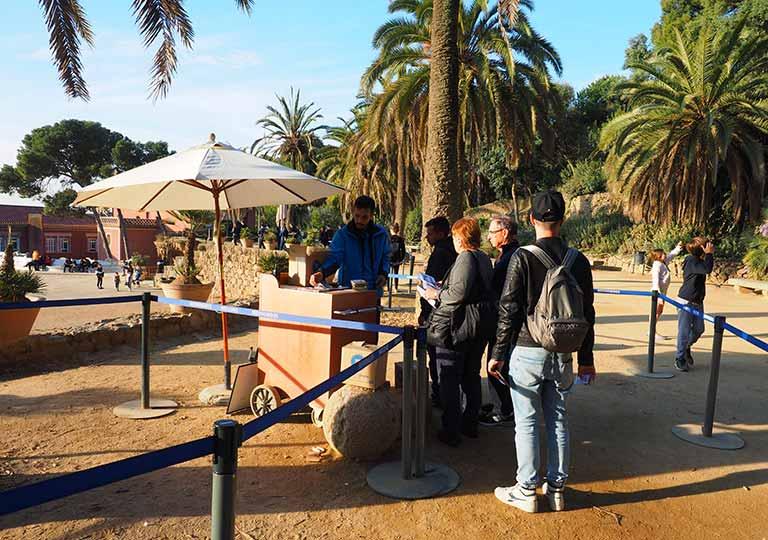 バルセロナ観光 グエル公園(Park Güell) 有料ゾーンの入口ゲート