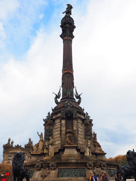バルセロナ観光 ランブラス通り(La Rambla)コロンブスの塔(Mirador de Colom)