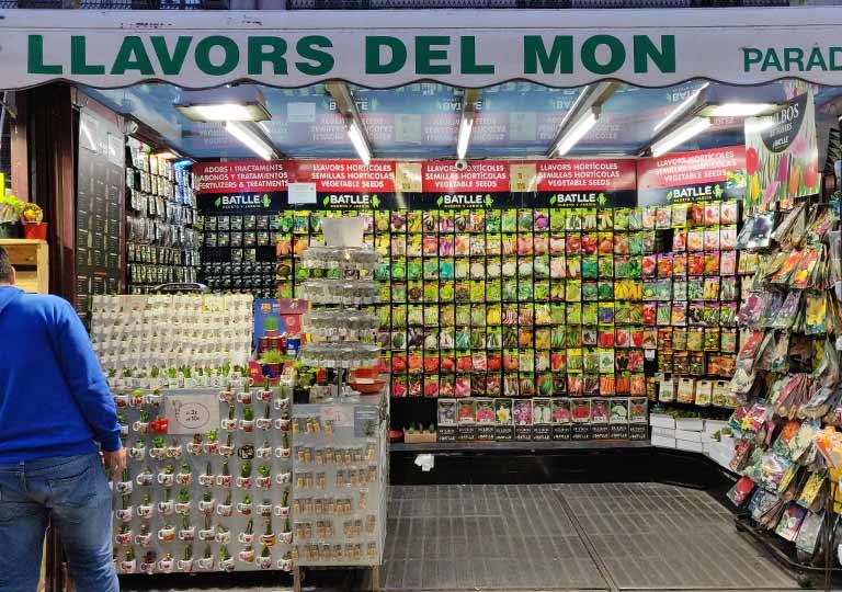 バルセロナ観光 ランブラス通り(La Rambla)花屋さん