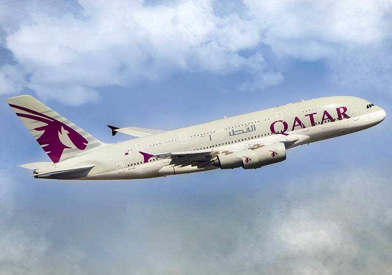 カタール航空の飛行機