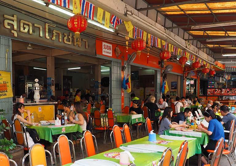 バンコク観光   レストランSUDA(スダー)のテラス席
