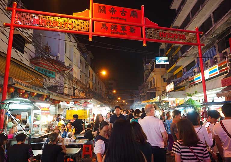 バンコク観光  チャイナタウンの景色
